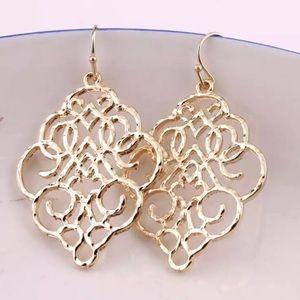 Moroccan Filigree Earrings - Gold
